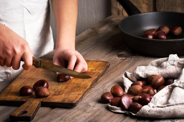 cuocere le castagne