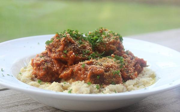 italian-meatballs-with-cauliflower-mash