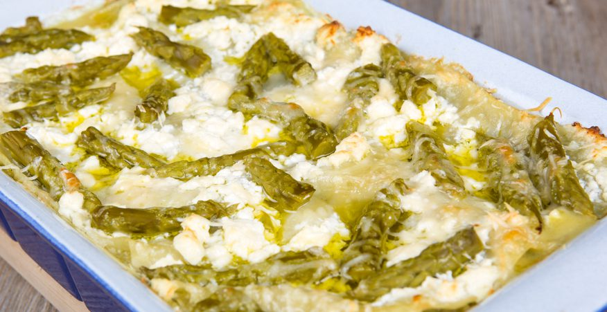 lasagnette salmone e asparagi
