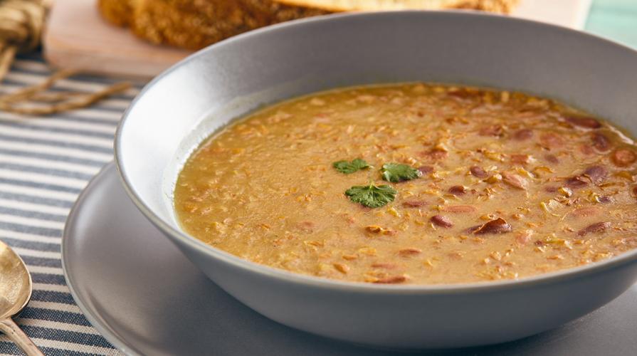 zuppa di castagne e fagioli