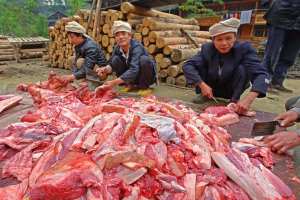 Lavorazione carne Cina