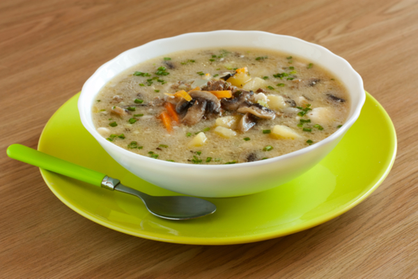 zuppa funghi patate