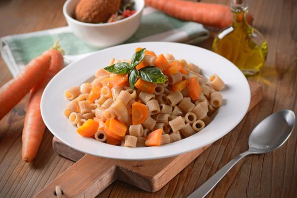 pasta integrale carote