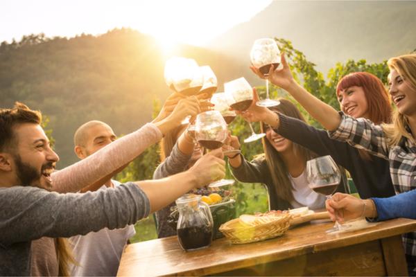 Cena friulana vino