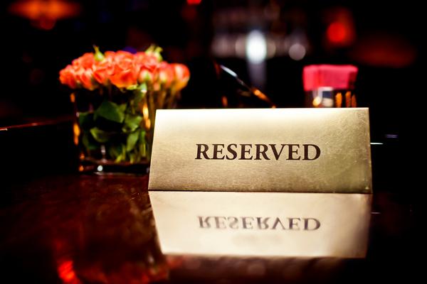 tavolo riservato