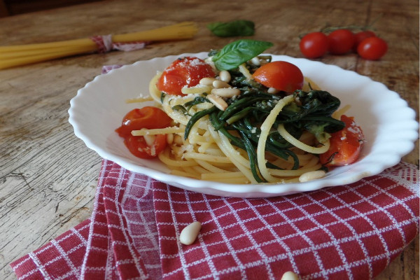 agretti-spaghetti