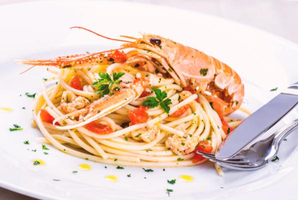 spaghetti aragosta