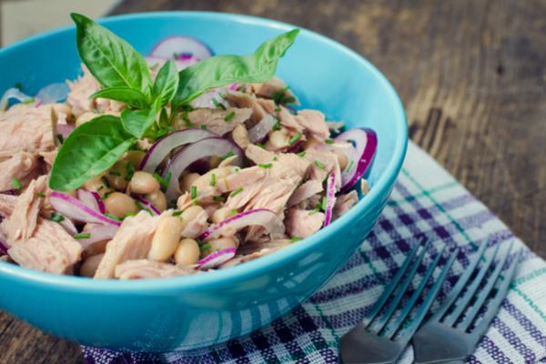 insalata di tonno fagioli e cipolla