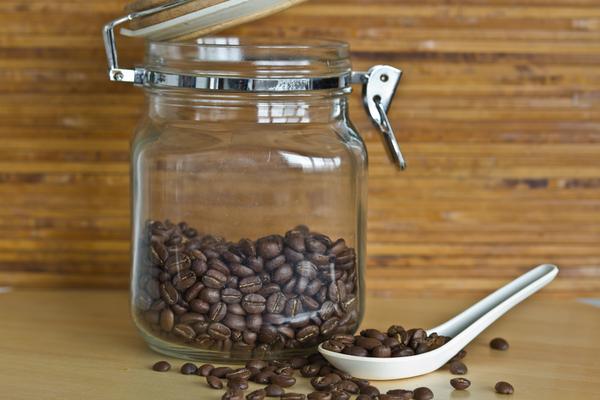 chicco di caffè verde naturale mason