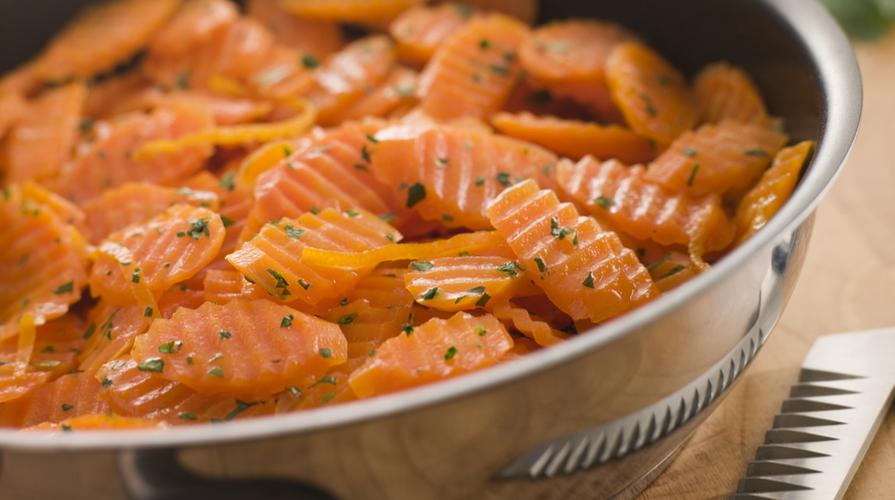 carote glassate all'arancia