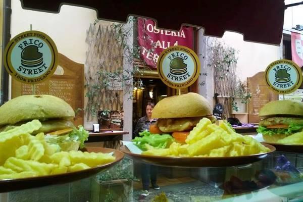 frico burger osteria della terrazza