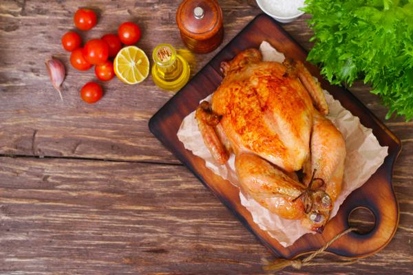 Pollo arrosto microonde