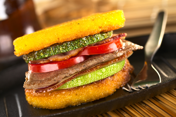 Burger di polenta