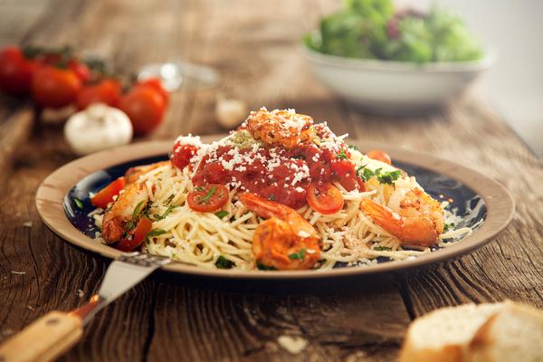 spaghetti con mazzancolle