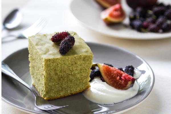 torta al tè matcha