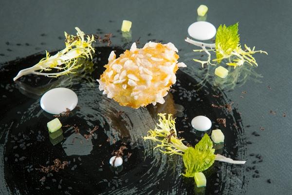 capesante impanate e tartufo nero