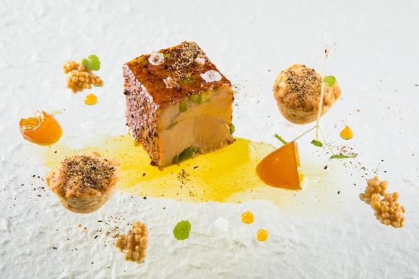 foie gras e scones