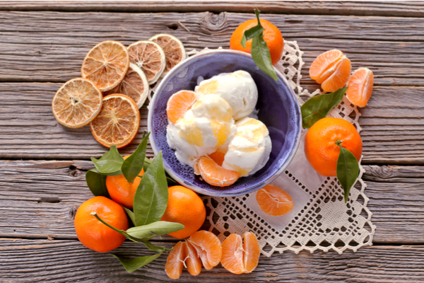mandarini gelato sorbetto