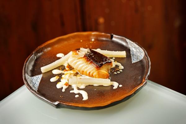 pesce bianco glassato alla soia