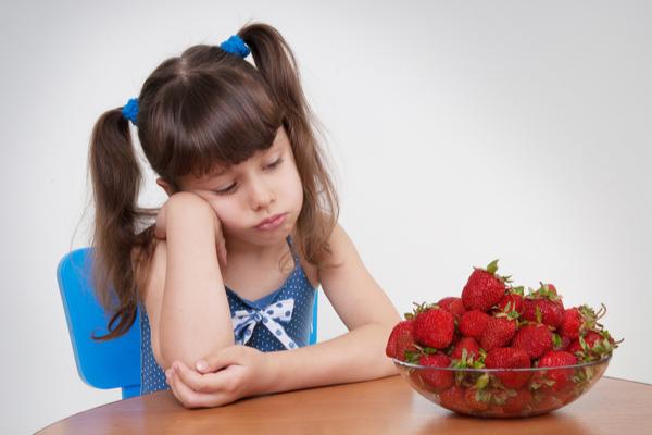 allergia fragole bambina