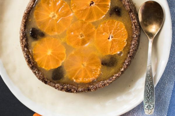 crostata crudista mandarino