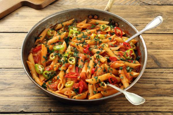 pasta riscaldata verdure