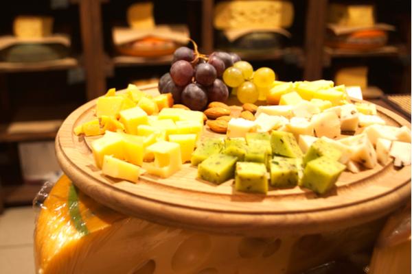 tagliere formaggi disposizione