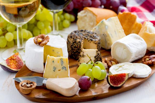 tagliere formaggi frutta