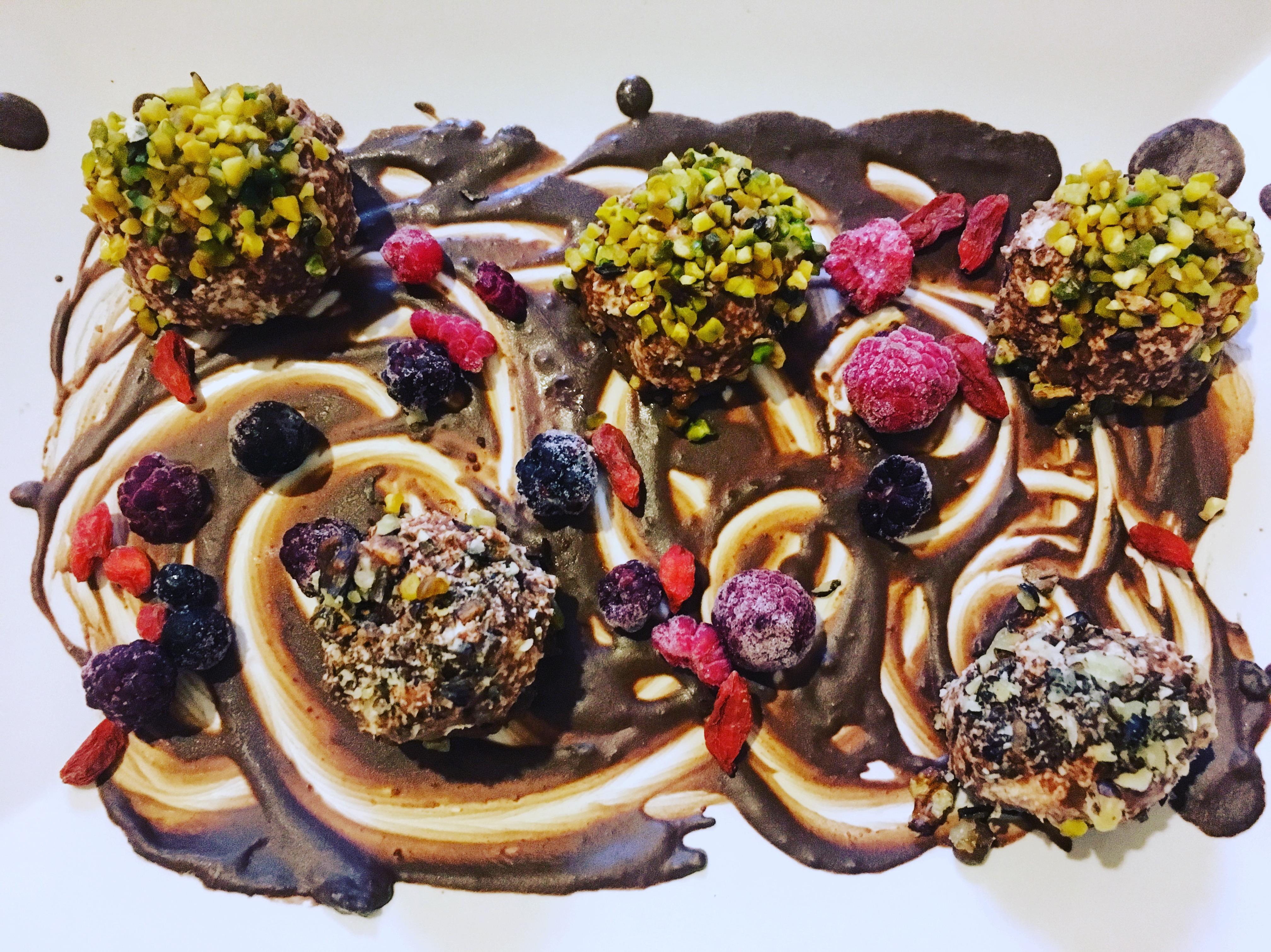 praline di yogurt e cioccolato