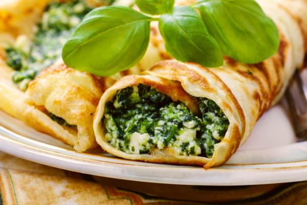 crepes spinaci ricotta