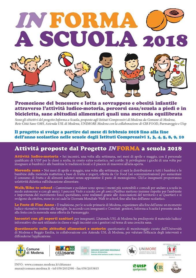 Informa A Scuola Movimento E Cibo Sano Contro L Obesita Infantile