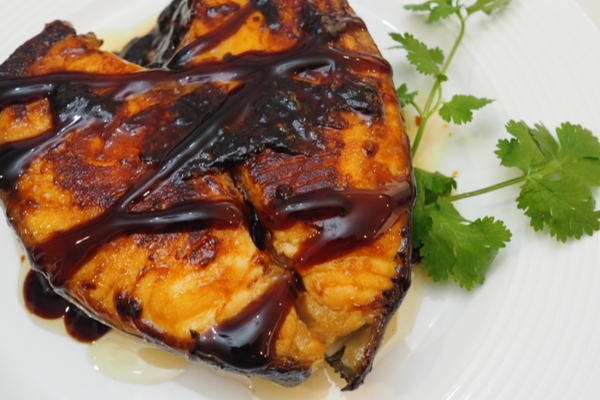 salmone al balsamico