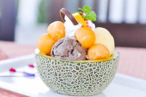 melone con gelato