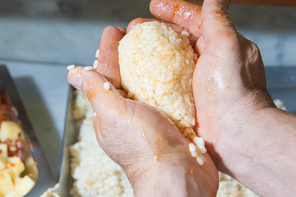arancine prosciutto