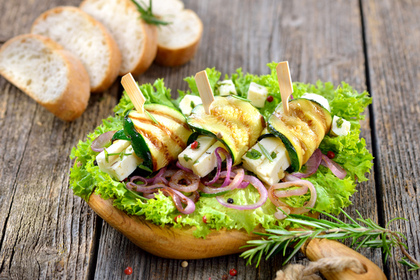 involtini zucchine e rucola