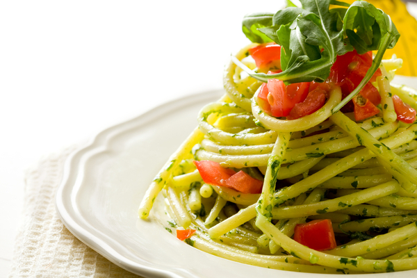 spaghetti pesto rucola