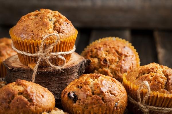 muffin con bucce di frutta