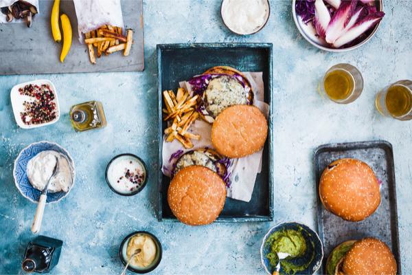 hamburger con radicchio