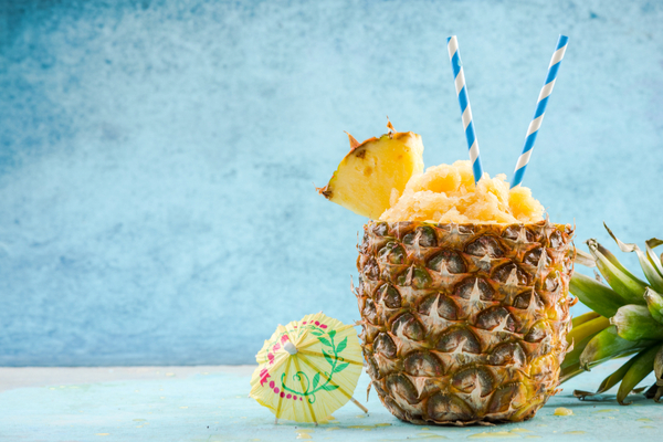 sorbetto di mango in ananas