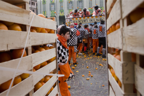 filiera arance carnevale ivrea