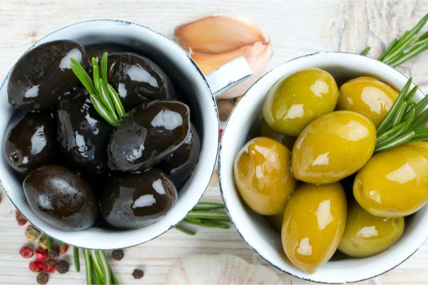 olive nere e verdi