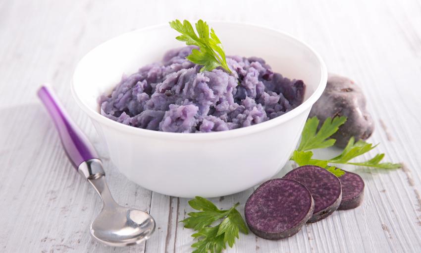 vellutata di patate viola