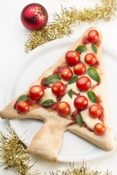 albero di natale pizza