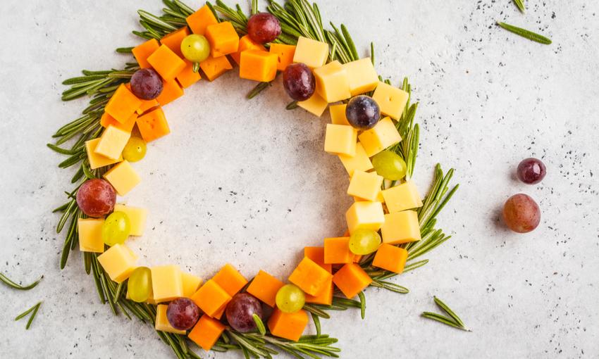 ghirlanda frutta formaggi