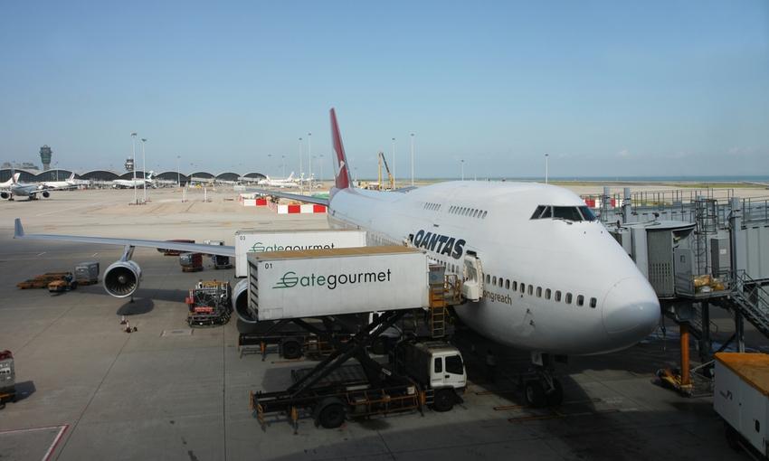 logistica cibo in aereo