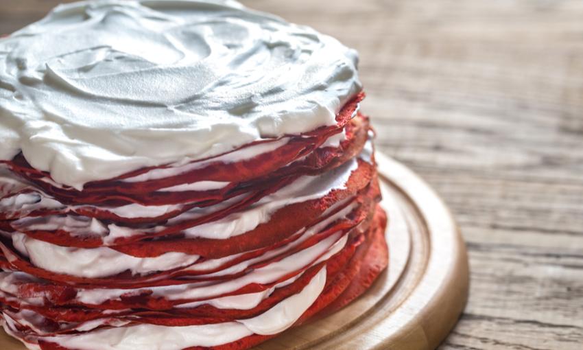 red velvet di pancake