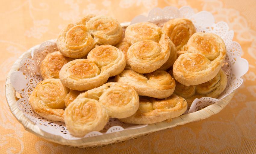 ventagli dolci di pasta sfoglia