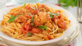 spaghetti alla bolognese al tonno