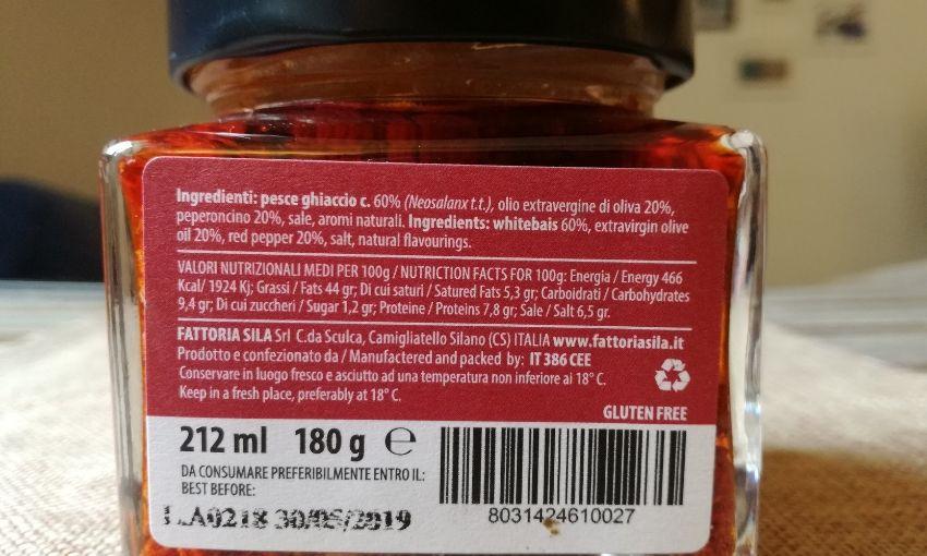 sardella ingredienti