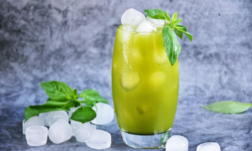 tè verde con basilico